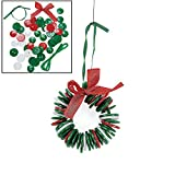 make your own ornament - Button Wreath Ornament Craft Kit for Kids