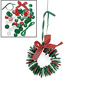 Button Wreath Ornament Craft Kit for Kids