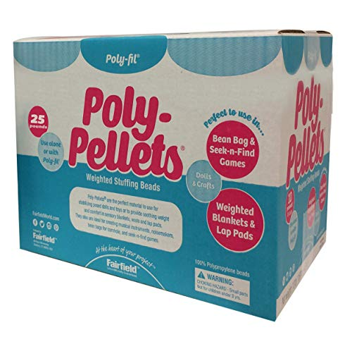 Recycled Plastic Pallets - Fairfield 25-Pound Poly-Pellets Weighted Stuffing Beads, 100-Percent Polypropylene, White
