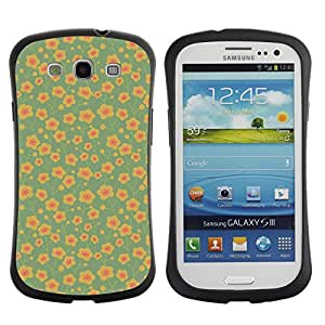 ArtSpace Premium Hybrid Back Case Cover Samsung Galaxy S3 III i9300 ( Cute Flower )