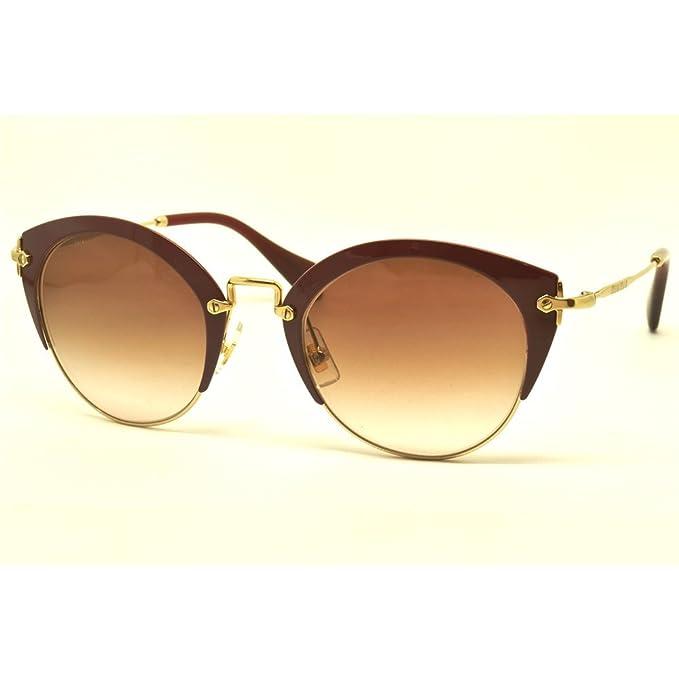Miu Miu 0MU53RS UA50A6 52, Gafas de sol para Mujer, Dorado ...