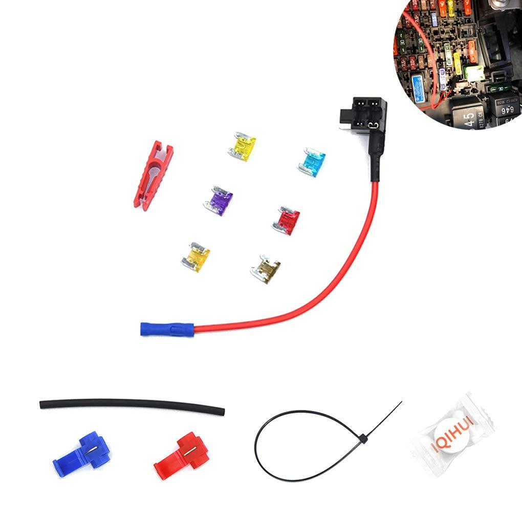 Set Mini Gr/ö/ße Auto Sicherungshalter Add-a-Schaltung Fuse TAP Adapter 12V Auto-Add-a-Schaltung Fuse Adapter Sicherungshalter Lindahaot 6PCS