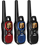 Uniden GMR3740-3CK 37 Mile Two-Way GMRS Radio 3-Pack, Red, Blue and Black