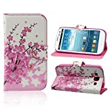 ABC® Flower Wallet Stand Flip Leather Case Cover For Samsung Galaxy S3 III i9300