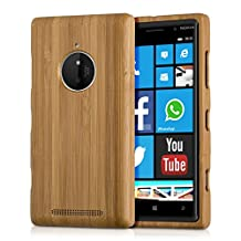 kwmobile Natural wood case for the Nokia Lumia 830 in bamboo light brown
