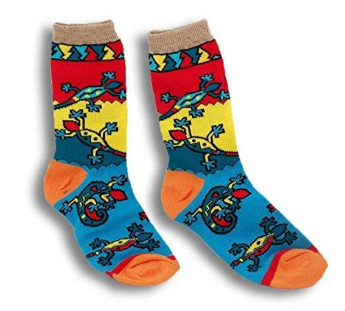 Crazy Lizards Southwest Gecko Print Socks Children's Size 5-7 by Polar Graphics