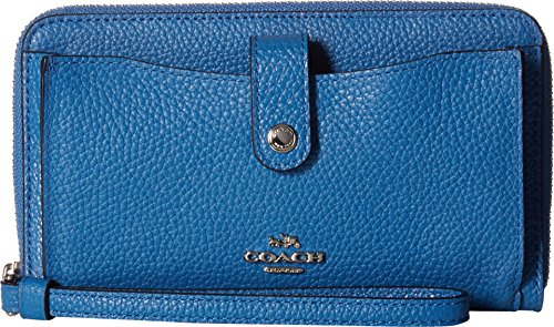 coach-womens-polished-pebbled-leather-phone-wallet-sv-lapis-wallets