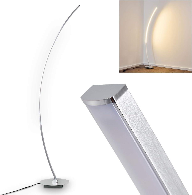 Noir Lampadaire moderne avec t/él/écommande 1500 lm Avec lampe de lecture flexible de 7 W 3 temp/ératures de couleur pour salon bureau Anten Lampadaire LED /à intensit/é variable 20 W chambre