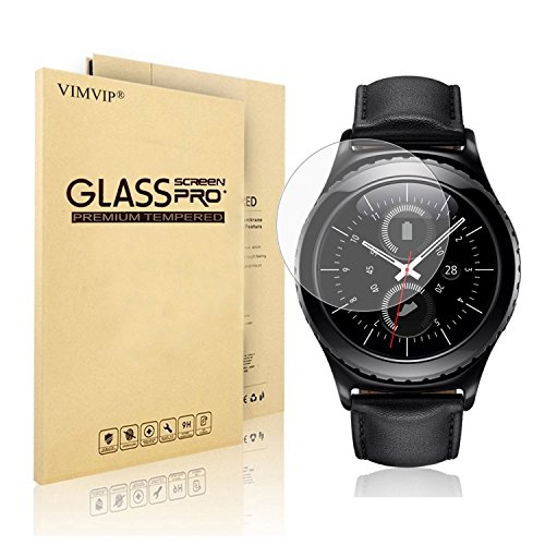 Gear S2 Classic Screen Protector,VIMVIP [Arc Edge Full Cover] Anti-Scratch, Anti-Fingerprint Tempered Glass Screen Protector for Samsung Gear S2 Classic Smartwatch