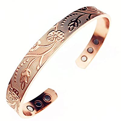 Copper bracelet used for arthritis - a pure copper magnetic bracelet with 6 magnets for men and women to effectively relieve joint pain.