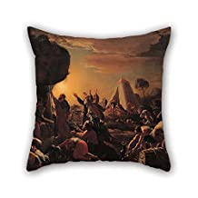 Oil Painting Francois Perrier - Moses Draws Water From The Rock Cushion Cases 18 X 18 Inches / 45 By 45 Cm Gift Or Decor For Kids Birthday Valentine Kids Girls Son Saloon - Each Side