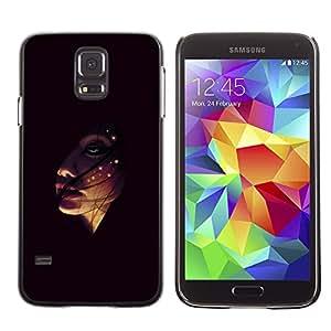 TaiTech / Prima Delgada SLIM Casa Carcasa Funda Case Bandera Cover Armor Shell PC / Aliminium - Face In The Dark - Samsung Galaxy S5