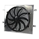 ALLOYWORKS Fan Shroud + 16'' Electric Cooling Fan for 87-06 Jeep Wrangler YJ TJ 2.4L-4.2L