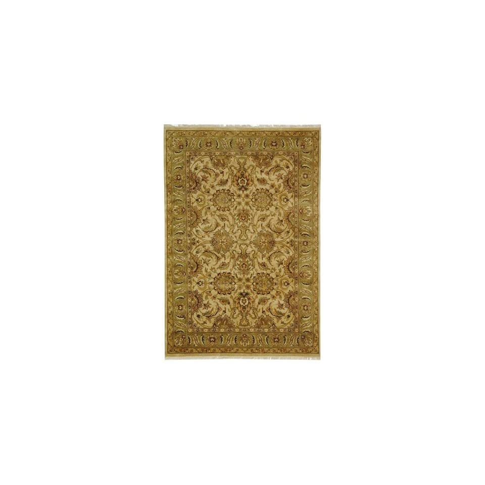 Safavieh Dynasty Collection DY207B Hand Knotted Beige and Green Premium Wool Round Area Rug (6 Diameter)