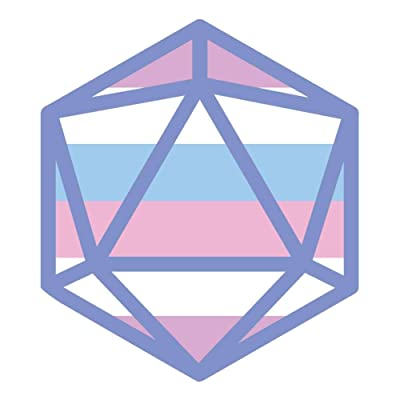 Dark Spark Decals Bigender Flag LGBT Pride D20-4 Inch Full Color Vinyl Decal for Indoor or Outdoor use, Cars, Laptops, Décor, Windows, and More: Automotive