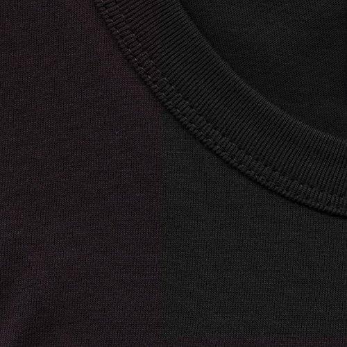 Nero Corta Logoshirt Maglietta Manica Collo Uomo Rotondo nYqwxHwB7