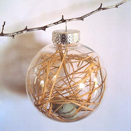 - Bird's Nest Ornament - Shabby Spring Decor - Rustic Cottage Chic Easter Decoration - Woodland Fairy Nature Bauble - Farmhouse Christmas Ornament - Plastic Decorative Orb