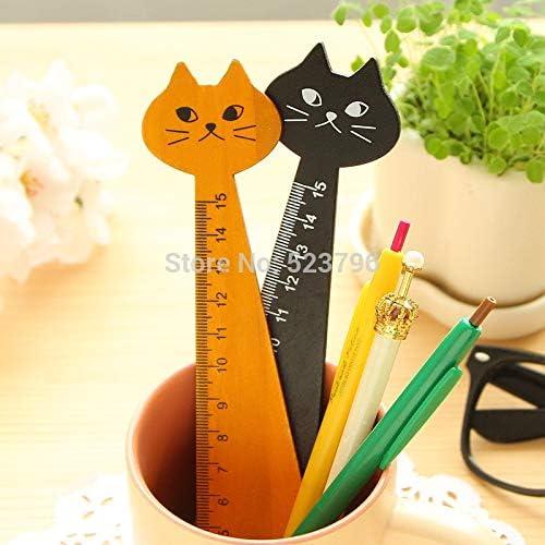 Regla de madera para costura de gatitos de la marca Bureze Kawaii, 1 unidad: Amazon.es: Oficina y papelería