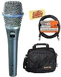 Shure Beta 87A Supercardioid Condenser Vocal Microphone Bundle with Gear Bag, XLR Cable, and Austin Bazaar Polishing Cloth