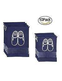 rayyee impermeable zapato bolsas organizador para Hogar Viajes (Azul Marino)-Conjunto de 10