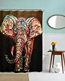 Elephant Shower curtain by Mimihome, Waterproof Mildew Free Bathroom Decor, 72 x 72 Inch, Colorful