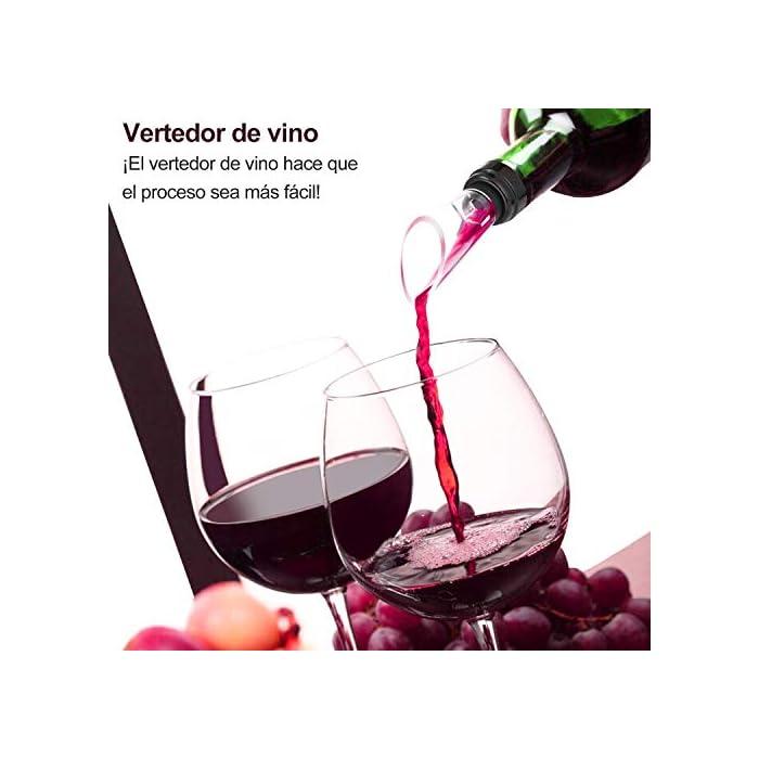Fácil de usar: ¡Un fantástico accesorio para los amantes del vino! Diferente del clásico abridor de botellas de vino, con nuestro automatico abrelatas de vino, sólo tiene que pulsar un botón, se puede quitar el corcho en 6 segundos. Potente y recargable: Funciona con 4 baterías recargables AA (incluidas) y puede abrir hasta 120 botellas con una sola carga. Salud y seguridad: El abridor de botellas de vino está hecho de una carcasa de aleación de aluminio y plástico ABS de grado alimenticio. Se puede usar con confianza, especialmente seguro y duradero.