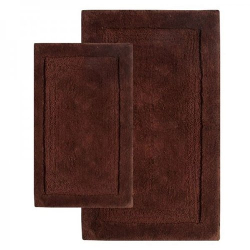 "Olympia 2 Piece Chocolate Contemporary Bath Rug Set Size: Set: 21"" x 34"" and 24"" x 40"""