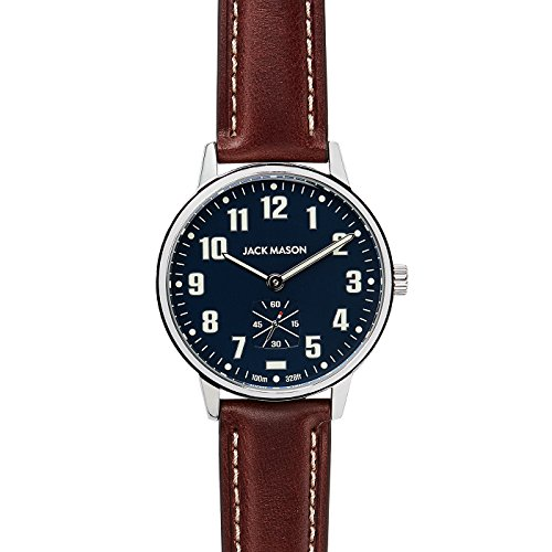 Navy Dial Brown Leather Strap