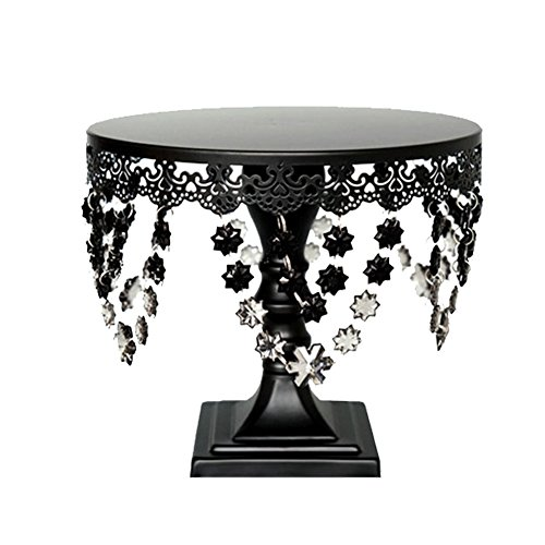 (Cupcake Stand, BotituBlack Dessert Stand with Crystal Decoration Cupcake Display, Perfect for Birthday, Baby Shower, Thanksgiving, Christmas, Graduation and Wedding Cake)