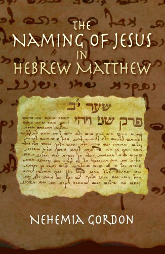 The Naming of Jesus in Hebrew Matthew (Meaning Of The Name Hope In Hebrew)