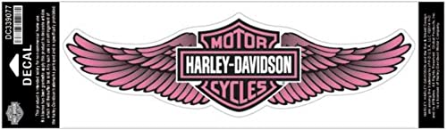 Harley-Davidson Straight Wing Decal Pink 3XL Size Sticker