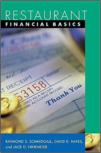 Restaurant Financial Basics (1st Edition)