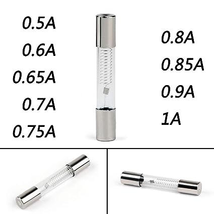 Davitu - Tubo de cristal de fusible para microondas (0,5 A a 1 A ...