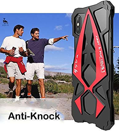 Amazon.com: For iPhone X Case Shockproof Sports Car Metal Aluminum Outdoor Armor Anti-knock Cover Case for iPhoneX: Cell Phones & Accessories