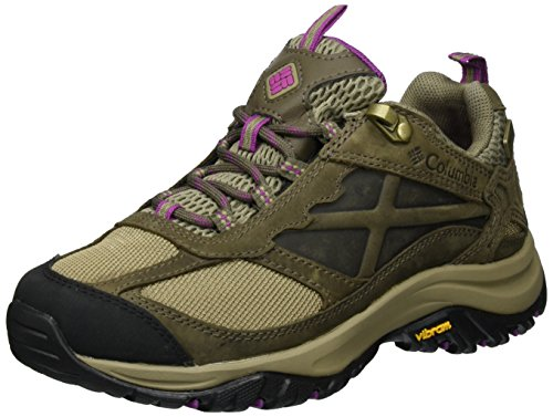 Columbia Women's Terrebonne Outdry Hiking Shoe, Pebble, Intense Violet, 9 B US by Columbia