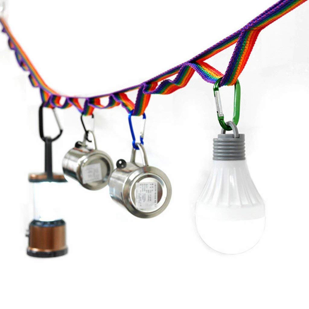 Camping Dinnerware Lantern Lamp Clothesline Drying String Colorful Decorations Aofocy Tent Hanging Lanyard Cord Outdoor Hang Rope Strap with Storage Bag Organizer for Camping BBQ Garden Picnic