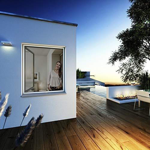 Fenster 120 x 150 cm wei/ß Lothring Fliegengitter Ultra Flat