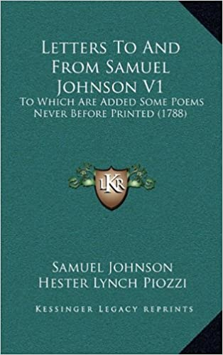 Book Letters To And From Samuel Johnson V1: To Which Are Added Some Poems Never Before Printed (1788)