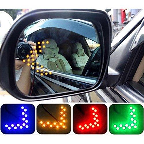 (COGEEK 2 Pcs Car Styling 14 SMD LED Arrow Panel For Car Rear View Mirror Indicator Turn Signal Light Car Led Parking (blue))