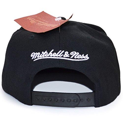 Mitchell Ness Hombre Negro única para Gorra Talla amp; Negro béisbol de qRxwrqTnZg