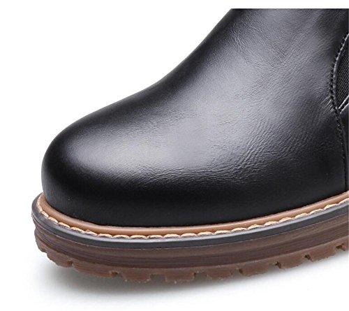 da Piattaforma Mocassini Black Oxford PU elastica Scarpe Suola donna taglia in 35to42 g6wgqd