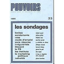 Pouvoirs, no 33: Sondages (Les)