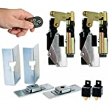 AutoLoc Power Accessories 9809 Small Power Bear Claw Door Latch with Remotes