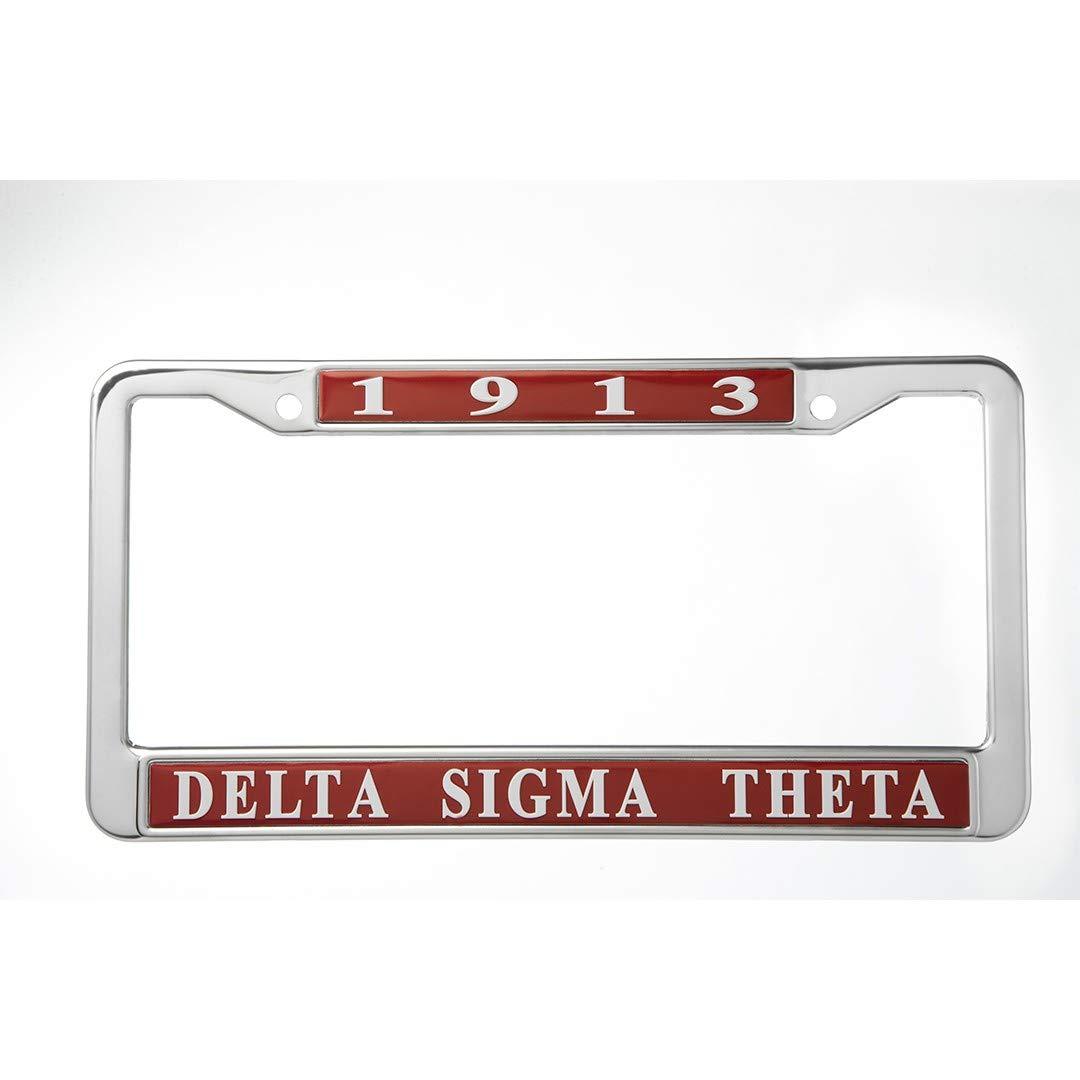 Delta Sigma Theta Metal License Plate Frame
