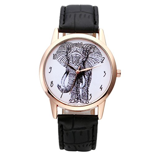 Top Plaza Elephant Numerals Watch Black