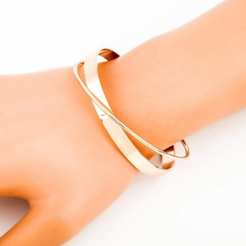 AITUブレスレットステンレス鋼ローズゴールドカラー腕輪用女性オープンブレスレット女性ブレスレット、B   B07MLNZ7B8