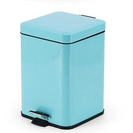Ju&Lim 12 litros De Pedal Bin con El Plástico Interior del Cubo, La Basura Acero