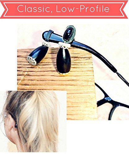 Eyeglasses Hurt? Two Pairs Of Eyeglass Accessories PLUS FREE Ear Cushions (Lifts Eyeglass Frames! Prevents Slipping! Prevents Nose Dents!) Dangles Eyeglass Jewelry. Sunglasses - Hurt Your Eyes Do Sunglasses