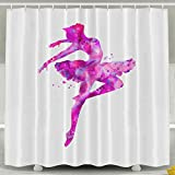 Cute Shower&bath Curtain Ballet Dance Non Toxic 6072inch