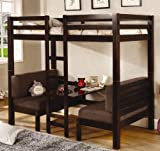 Coaster Twin Size Convertible Loft Bed in Cappuccino Finish - Best Reviews Guide